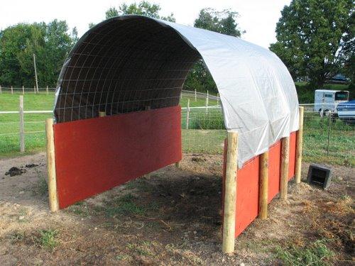 Horse RunIn Shed Shelter Barn