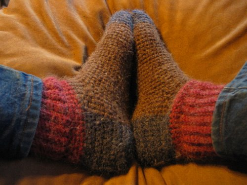 Free Instructions for Crocheted Slipper Socks | eHow.com