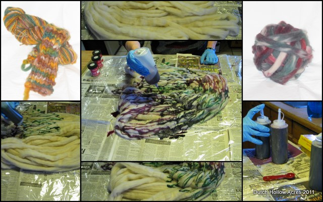 Hand Painted Dyed Roving