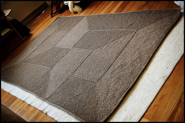 WIP: EZ Garter Stitch Blanket AlpacaBytes   Dutch Hollow Acres